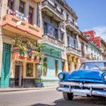 La Habana Vieja, colores, coche antiguo, Cuba