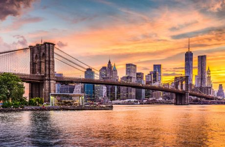 Nueva York, puente río