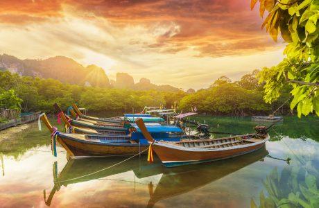 Tailandia - playas y barcas - puesta de sol