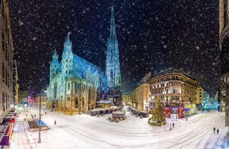 Viena, catedral, nevada
